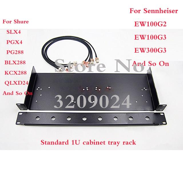 SLX4 PG24 PG288 EW100G2 G3 Wireless Microphone Rack Mounting Bracket Rack Kits For Sennheiser Shure Wireless Microphone Receiver