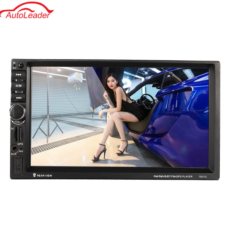 2 Din 7 Inch Car MP5 Player Bluetooth HD Touch Screen With GPS Navigation Rear View Camera Auto FM Radio Autoradio IOS car mp5 player with rearview camera gps navigation 7 inch touch screen bluetooth audio stereo fm function remote control