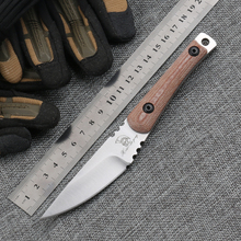 Small Rue Worker Pocket Knife D2 Blade Micarta Handle Utility Fixed Blade Camping Knife Tactical Outdoor Knives EDC Tools