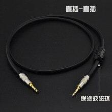 Трехъядерный мм 3,5 мм аудио кабель AUX кабель экранированный отправить магнитный фильтр