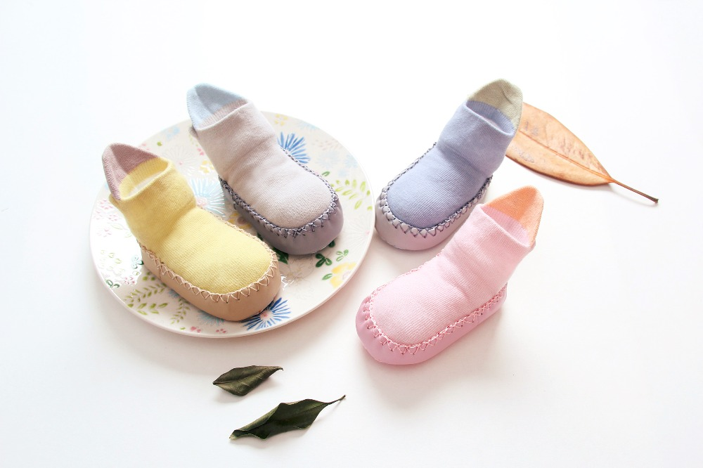2017 Autumn Toddler Baby Shoes Socks Children Infant Cartoon Cotton Socks Baby Gift Kids Indoor Floor Socks Baby Non-slip Socks ...