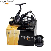 Carp Fishing Reel with Extra Spool Double Brake Carp Fishing Feeder 10BB Spinning Reel 5.5:1  Fishing Reel 3000 4000 5000 6000