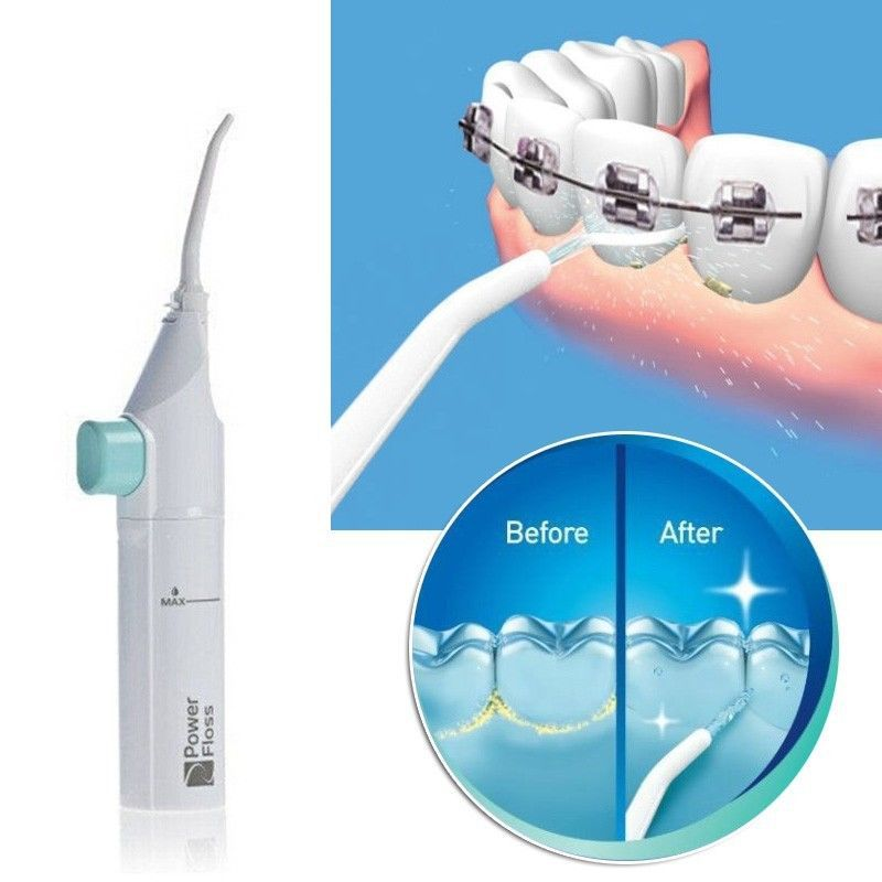 1PC Power Floss Dental Hygiene Irrigator Dental Water Flosser Jet Cleaning Tooth Mouth Denture Cleaner Whitening Oral Irrigator