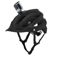 Integrally Molded Cycling Helmet Camera Clip Outdoor Sport Safety Helmet MTB Mountain Road Bicycle Bike Helmet