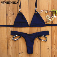 VINIKNIKA 2017 New Shell Pendant Pure Hand Woven Girl Bikini Split Swimsuit Swimwear Summer Women Bikini