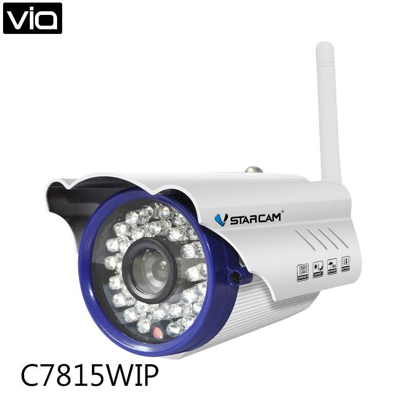 VStarcam C7815WIP Direct usine étanche 1MP HD WIFI caméra réseau intérieur/extérieur Onvif P2P ir-cut infrarouge 15 m Mini balle