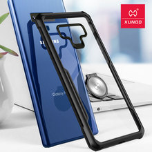 for Samsung Galaxy Note 9 10 10+ XUNDD Transparent Phone case with Ring Holder stand Silicon protective