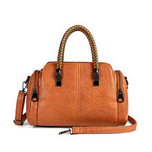 Super quality Women Handbag Shoulder boston Bag tote Italian Leather Bags Sac A Main Candy Color Luxury Handbags Crossbody C892(China)