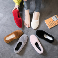 Real fur Shoes Women Loafers Warm Soft Winter Shoes Female Moccasins Casual Outdoor Footwear Fashion Sneaker Wool Ladies Shoes