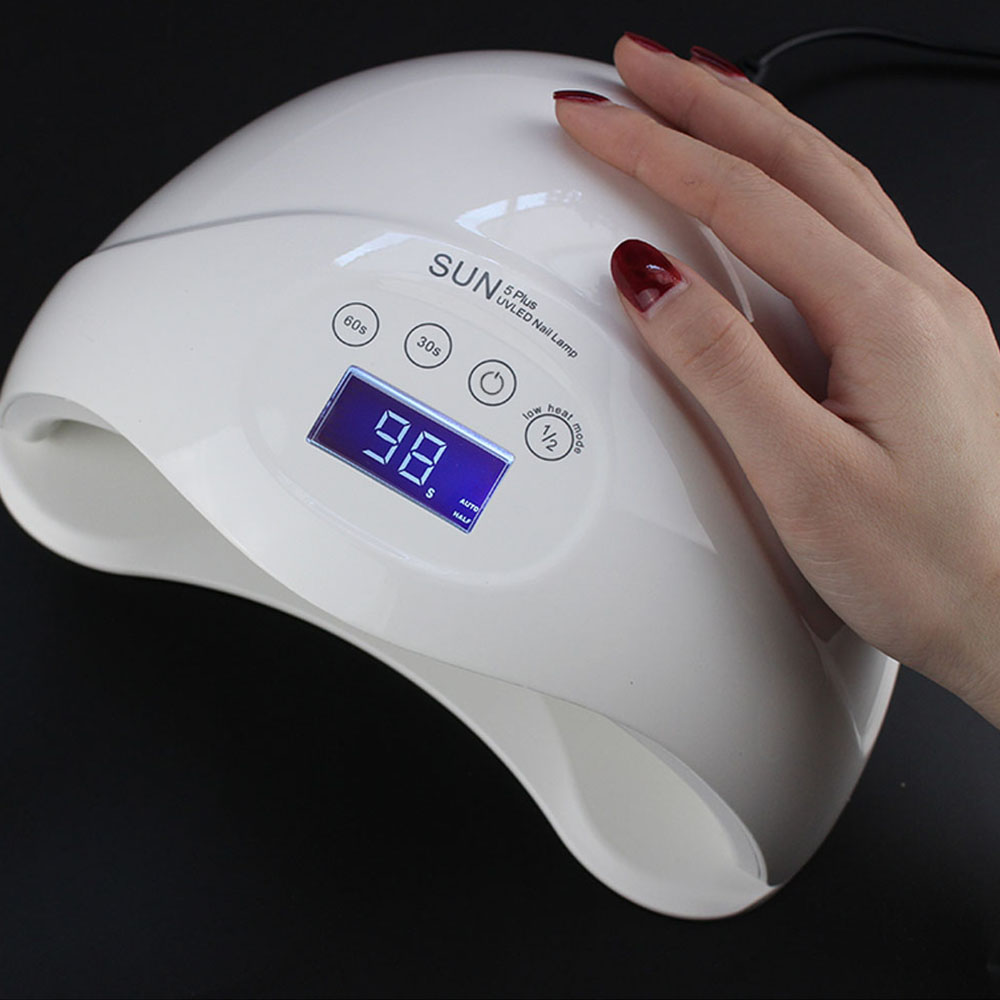 Jewhiteny 48W UV Nail Lamp Nail Dryer For Nail Gels Polish 24 LEDs Two Hand Lamp Infrared Sensing With 30/60/99s Nail Art Tools