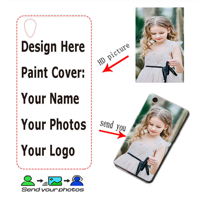 DIY logotipo de la foto para BQ Aquaris M4.5 M5 M5.5 U Lite U2 Lite U plus V Plus para BQ E5 e4.5 E6 X2 Pro A4.5 5020 VS más X5 Plus X Pro