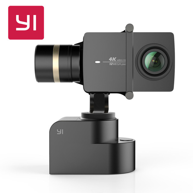 yi handheld gimbal with yi 4k action camera and selfie stick bluetooth remoter 3 axis pan tilt. Black Bedroom Furniture Sets. Home Design Ideas