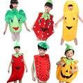 Festa Dia das Crianças Dos Desenhos Animados das crianças das Crianças do Dia Das Bruxas Traje Cosplay Roupas Abóbora Árvore de Banana Fruta Vegetal para o Menino Menina