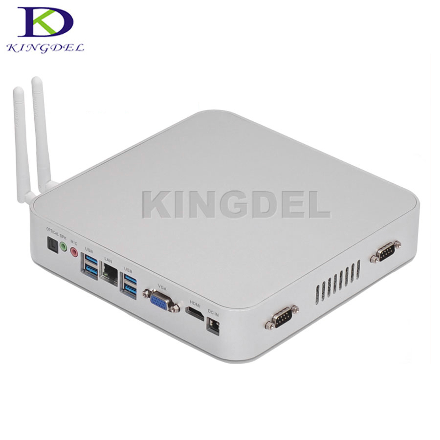 New Arrival Quad Core Intel Celeron N3150 Braswell Fanless Industrial Computer Mini PC Optical 2 RS232 Windows 10