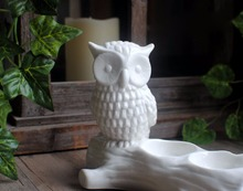 DW0034 Animal Silicone Molds Owl Trunk Candle Holder Silicone Cement Concrete Mold Handmade Flower Pots Moulds Aroma Stone Mould