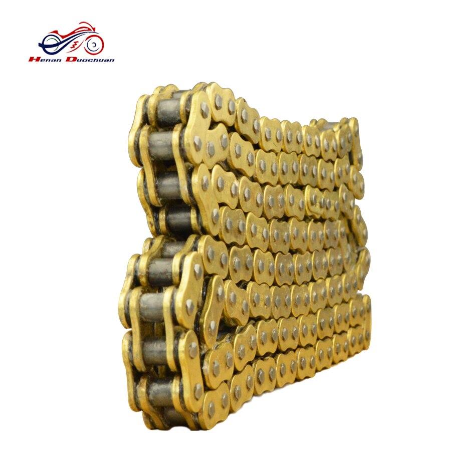 Moto entraînement chaîne o-ring O Ring 428 chaîne 130 liens or chaîne huile joint moto accessoires # d