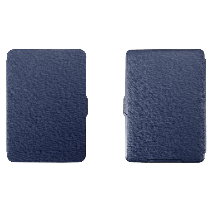 MOOL Magnetic PU Leather Cover Case Slim For Amazon Kindle Paperwhite (Cross Pattern, Dark Blue)