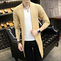 Autumn Winter Loose Long Mens Cardigans Sweaters  Korean sweater warm  knit cardigan jacket coat  AA1493X