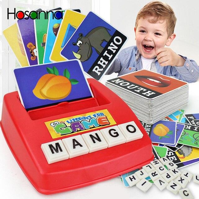 Juguetes educativos para niños, idioma inglés, bebé, juguetes de Aprendizaje Temprano