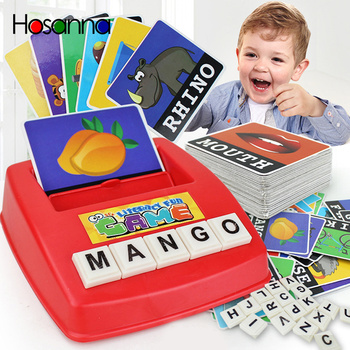 Kids Toys Educational English Language Baby Early Learning Toys Literacy Fun Game Montessori Word Machine For Alphabet Puzzle image