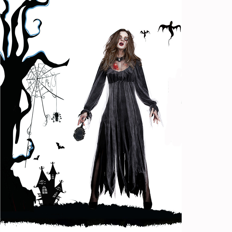 Woman's Vampire Corpse Bride Ghost Costumes Cosplay For Halloween Party Carnival  Uniform DS Clubwear Cosplay Size S M L