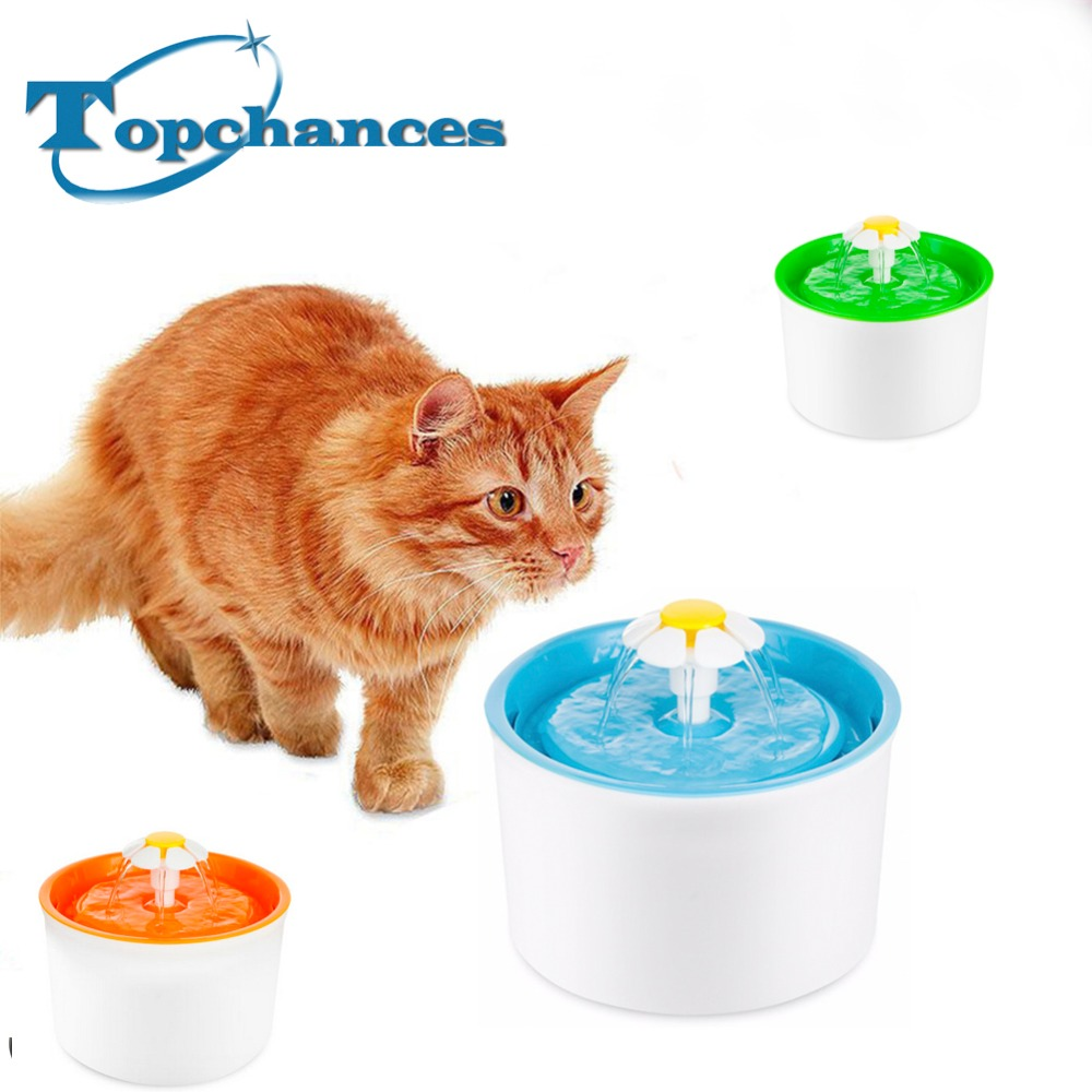 High Quality New Flower Style New Automatic Cat Dog Kitten Water Drinking Fountatin Pet Bowl Dish Drink Filter Free Shipping