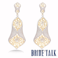 BRIDE TALK Luxury Brand New Design best selling Drop Earrings Jewelry Free Shipping Shiny Cubic Zirconia Suitable Hot for women