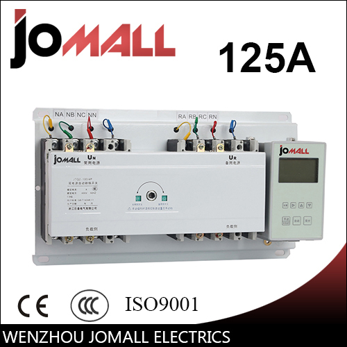 125A 4 poles 3 phase automatic transfer switch ATS with English controller цена