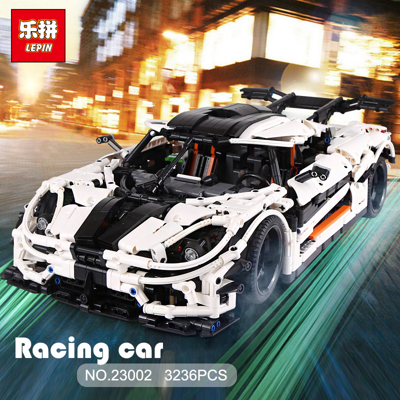 Lepin 23002 3236Pcs Technic The MOC-4789 Changing Racing Car Set Children Legoinglys Educational Building Blocks Bricks Toys цена