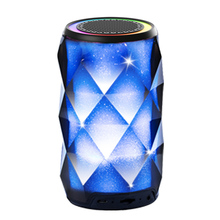 Q5 Bluetooth Speakers Wireless LED Touch Control Colorful Night Light Built-in Mic AUX and Hands Free Speaker for Home and Party