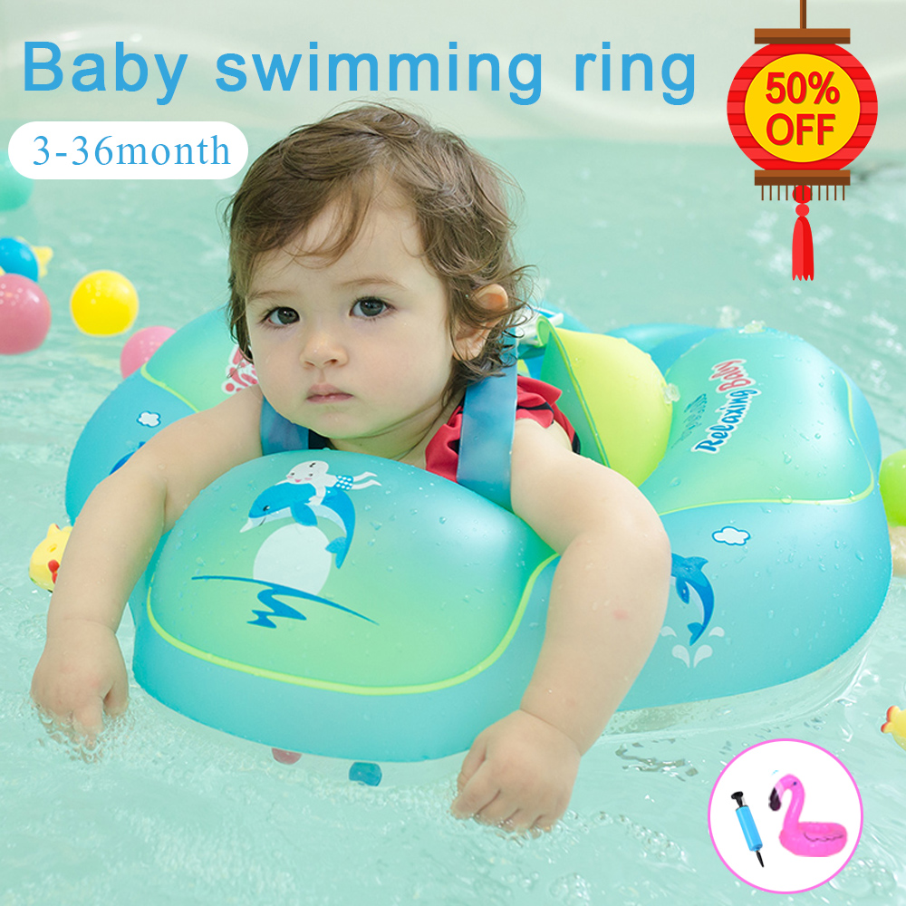 Baby Swimming Ring Inflatable Circle PVC Swimming Circle For Child Newborns Swimming Pool Bathing Swimming Wheel/Arm Ring