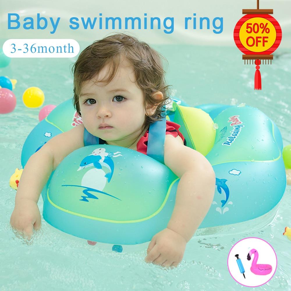 Baby Swimming Ring Inflatable Circle PVC Swimming Circle For Child Newborns Swimming Pool Bathing Swimming Wheel/Arm Ring