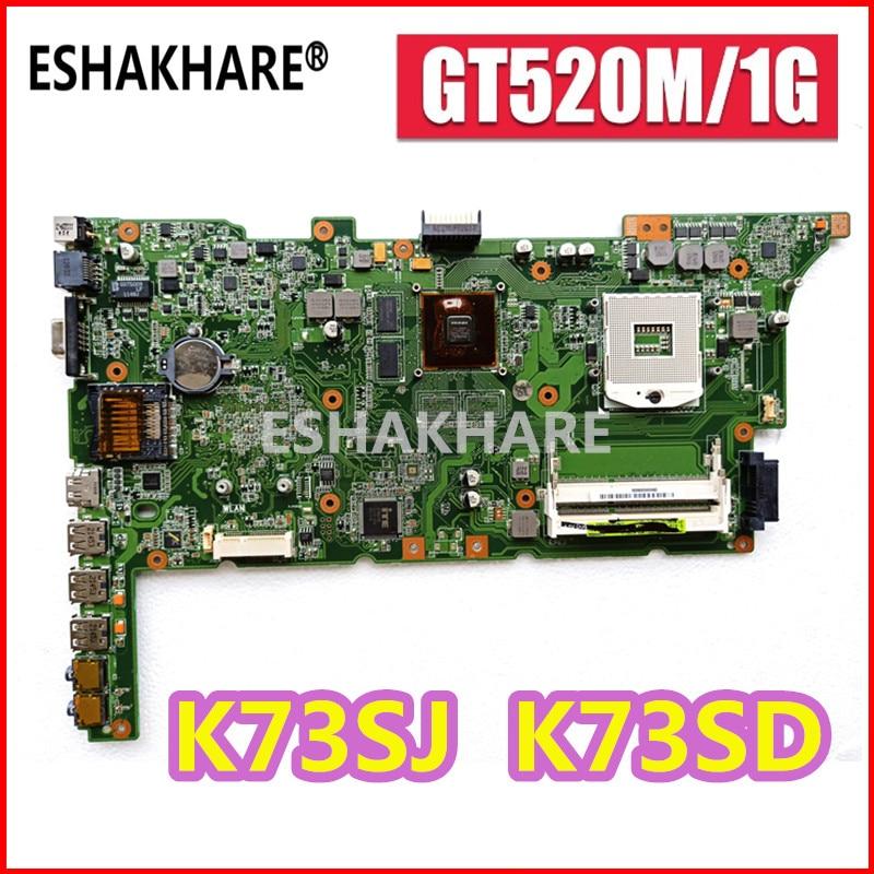 For ASUS K73SV K73SM K73SJ A73S X73S K73SD Motherboard K73SJ K73S K73E Mainboard