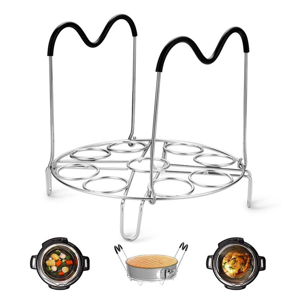 With Handle Stainless Steel Cooking Pot Frame Four Tripod Compatible Instant Pot Accessories Cookware Cooking Tool Kitchen Tools
