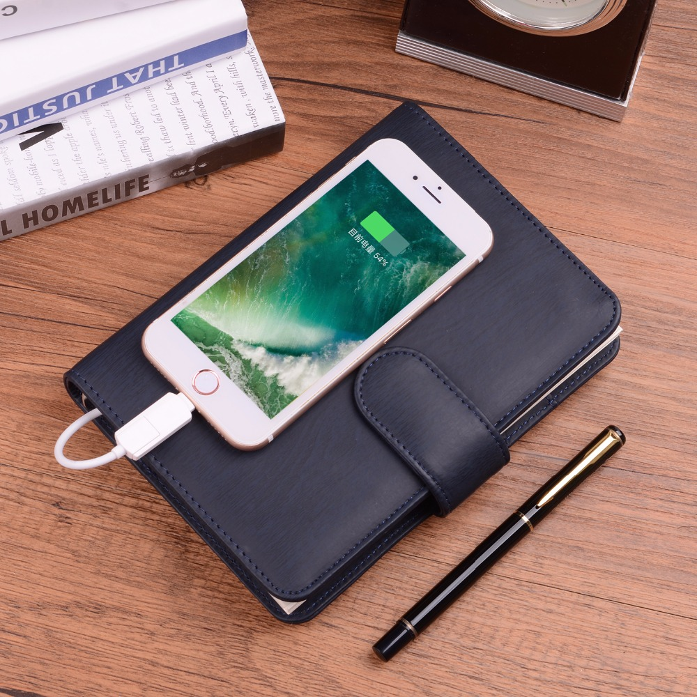Novel Gift A6 Business Notebook with 6000mAh Power Bank Office Supply Business Gift  Removable Power New Style Accept Customized weir a the martian a novel