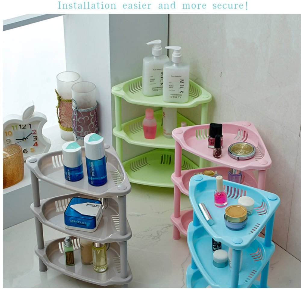 Mini bathroom storage shelves rack 3 layers new plastic bathroom  organization shampoo and lotion holder free shipping-in Storage Holders &  Racks from Home ...