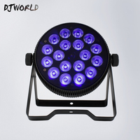 New Style Aluminum Alloy LED Flat Par 18x12W RGB+UV DMX512 Stage Effect Lighting Good For Wedding Decoration For 8 Channels