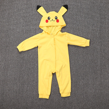 50faf8e4a04 Pokemon Pikachu Cosplay Costume Mystic Instinct Valor Ash Hooded Toddler  Clothes Infant Boy Girl Jumpsuit Halloween