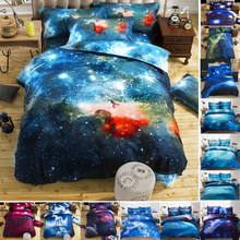 High Quality Quilt cover Universe Outer Space Themed Bed Linen Cover Set Single double Twin/Queen 2pcs bedding sets(China)