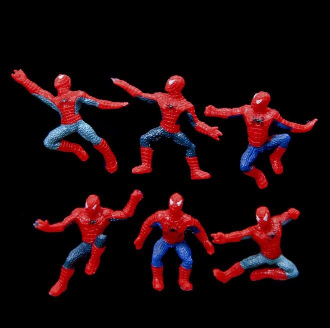 6Pcs/Set Mini Spider-Man Figure Superhero Spiderman Spider Man PVC Action Figure Toys 5cm Great Gift 227