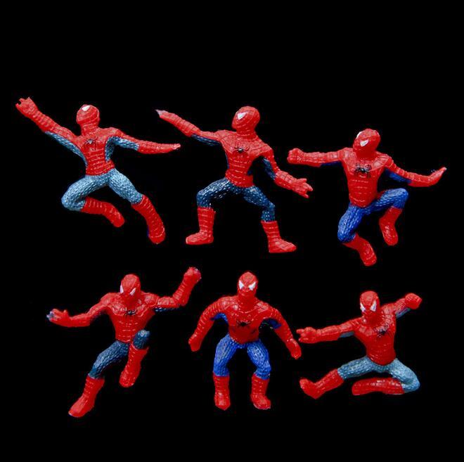 6Pcs/Set Mini Spider-Man Figure Superhero Spiderman Spider Man PVC Action Figure Toys 5cm Great Gift 227
