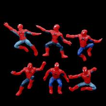 6Pcs/Set Mini Spider-Man Figure Superhero Spiderman