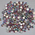 Siam AB cor ss3, Ss4, Ss5, Ss6, Ss8, Ss10, Ss12, Ss16, Ss20, Ss30 cristal de volta plana não Hotfix Nail Art cola em strass
