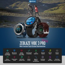 Zeblaze VIBE 3 PRO Color Touch Display Sports Smartwatch Bluetooth 4.0 IP67 Waterproof Weather Remote Music Sports Smart watch
