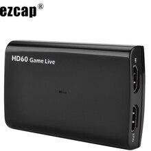 HDMI Карта видеозахвата USB 3,0 Mic, HD 1080P 60fps игровой видеомагнитофон для PS3 PS4 Xbox tv BOX Twitch OBS Youtube Live Streaming