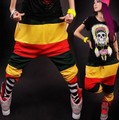 New fashion Jamaican Reggae Harem Hip Hop Dance Pants Sweatpants Costumes Green Yellow Red female  trousers