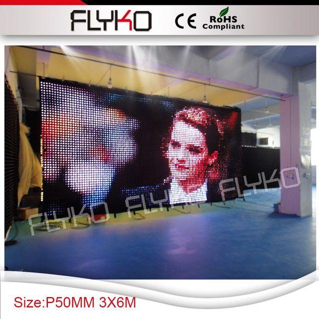 P5 6x3 m nuevo producto del sexo de vídeo rgb pantalla led cortina flexible display