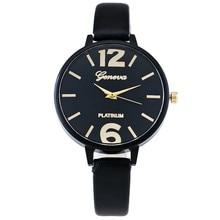 Hot Sale Watches Fashion Geneva Watch Women Casual Leather Hour Digital Quartz Analog Wrist Watch Clock Relogio Feminino hours цена