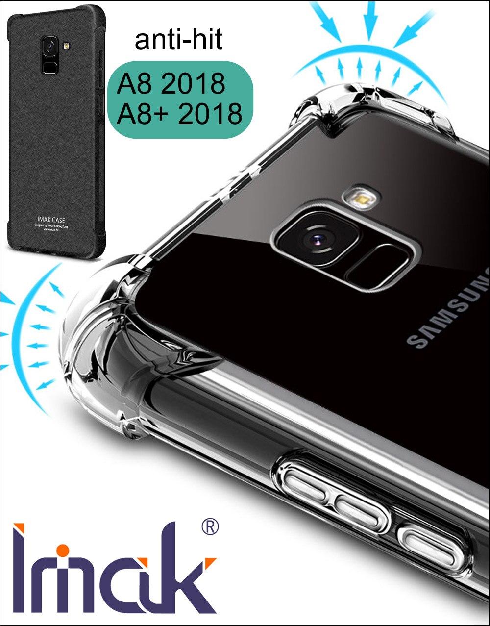 IMAK Airbag Cas Pour Samsung Galaxy A8 2018 A530F A8 Plus A730F Baisse résistance anti frappé Choc Tpu Silicone couverture