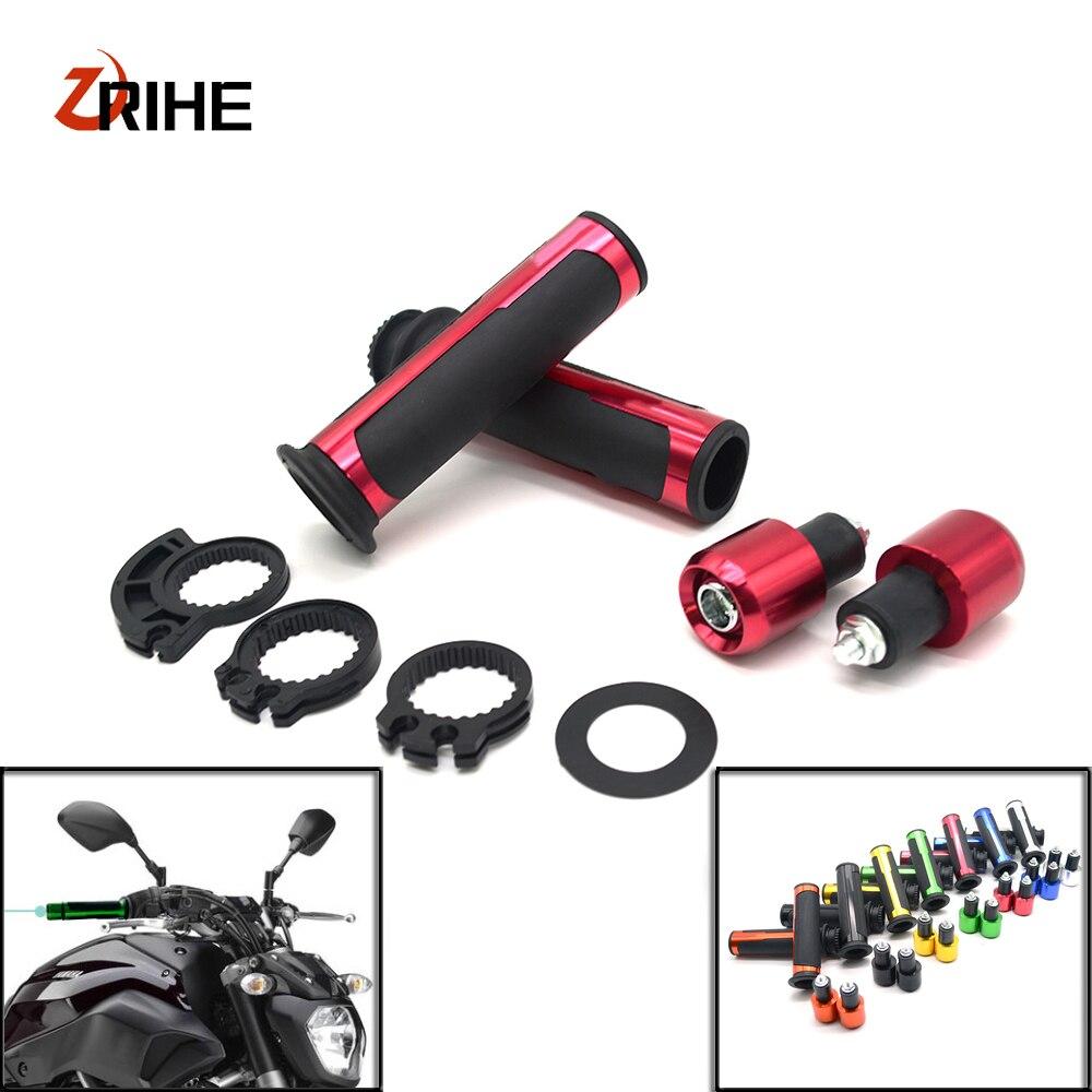 7/8 22mm Handlebar Sport Bike Motorcycle Rubber gel hand Grips For Kawasaki Ninja 650R ER-6F ER-6N ER6F ER6N ninja300